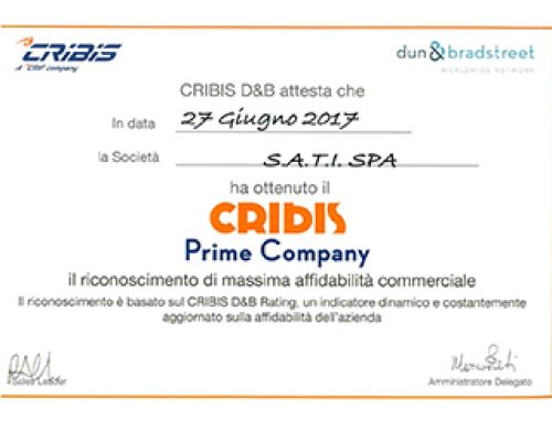 Sati is awarded the CRIBIS PRIME COMPANY